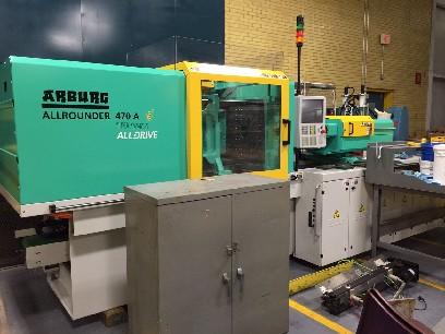 Injection Molding Machines: Arburg 110 Ton 1 9 Oz Electric